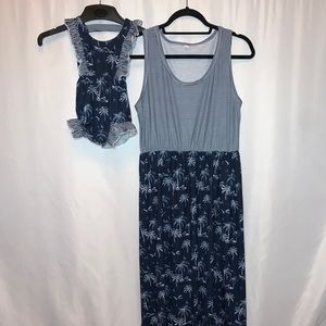 PatPat Mommy & Me Matching Outfit Maxi Dress M/L